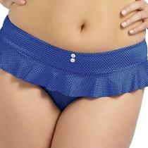 Freya Cherish Bikini Brief Size Xs 8 10 Blue White Spots Latino Frilled 3366 New Photo