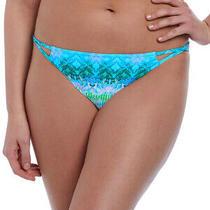 Freya Seascape Bikini Brief Tanga Low Rise 5873 Lined Bottoms - Blue Lagoon Photo