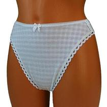 Freya Womens Thong Panties Cotton Lace String Knickers White Extra Large Xl Photo
