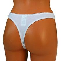Freya Womens Thong Panties Cotton Lace String Knickers White Xl Extra Large Photo