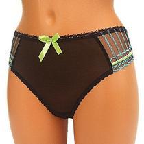 Freya Womens Thong Panties Lace String Knickers Underwear Sheer Xl Extra Large Photo