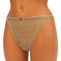 Freya Womens Thong Panties String Knickers Lace Sheer Nude Size 7 L Large  Photo
