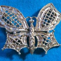 Frilly Fancy Belt Buckle Butterfy Mimi Di N Large Vintage Collectable Photo