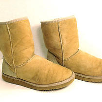 Frisky & Fun Pair of Uggs Australia Tan Classic Short Boots 9 Photo