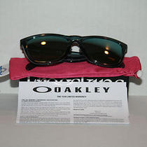 Frogskins 03-291 Crystal Blk Emerald Irid New Oakley Sunglasses Photo