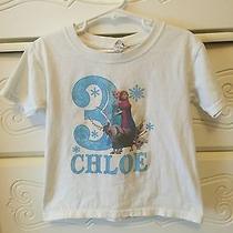 Frozen 3rd Birthday T-Shirt Youth Sz Xxl With Name Chloe Photo