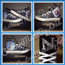 Frozen Inspired Customized Converse Sneakers Down to the Toe for Your Princess Photo