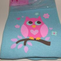 Fruit of the Loom Thermal Underwear Set Aqua Blue With Pink Owl  Xs 4 5 X Small Photo