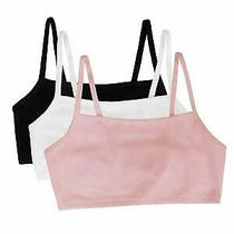 Fruit of the Loom Womens Cotton Pullover Sport Bra Blushing Black Size 38 1ag Photo