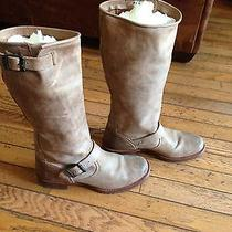 Fry Veronica Slouch Motorcycle Boots Tan Size 8m Photo