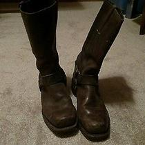 Frye 12r Brown Leather Harness Ring Boot Men's Us 10 M  - Price Drop Photo