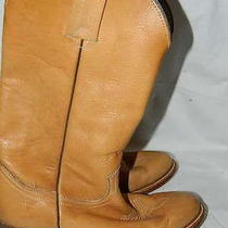 Frye 2308 Cowboy Western Boots Banana Tan Pull on Mens Size 8.5 D Photo