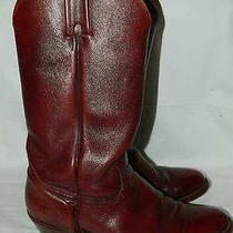 Frye 2356 Cowboy Western Boots Cognac Brown Pull on Mens Size 10 D Photo
