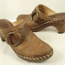 Frye 70770 Charlotte Ring Brown Leather Clogs-Mules 7.5 M Photo