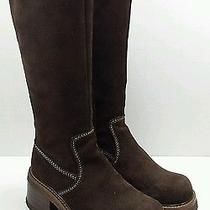 Frye 77510 12c Rebel Zip Tall Brown Suede Leather Fashion Boots Womens Size 6.5 Photo