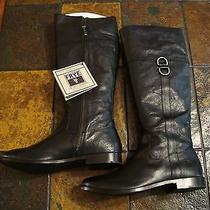 Frye Anna D Ring Black Leather Tall Knee High Boots Shoes 8.5 New Photo