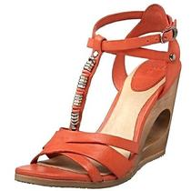 Frye Annabelle T-Strap Sandal Wooden Wedge 11 Nib High Heels Platforms New Boxed Photo