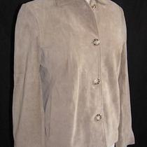 Frye Beige Suede Leather Butter Soft Button Front Shirt Jacket Womens Sz S Small Photo