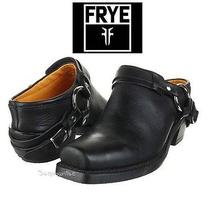 Frye Belted Harness Mule Motorcycle Size 10 Belted 70760 Black Clog Boost Ankle Photo
