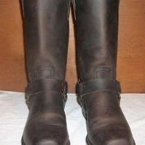 Frye Bike Harness E12 Boots Brown Leather Size 10 Photo
