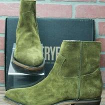 Frye Billy Inside Zip Bootie 70806 Casual Dress Boots Green Khaki Size 8.5 M Photo