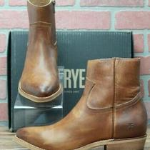 Frye Billy Inside Zip Bootie 70808 Caramel Leather Casual Dress Boots Size 8.5 M Photo