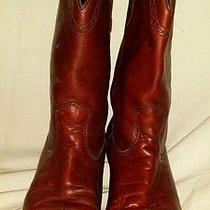 Frye Billy Pull on Cowboy Boots Women's Mahogany  Size 8 M Photo