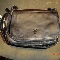 Frye Black Leather Accessory/travel Bag/camera Photo