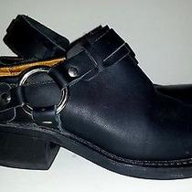 Frye Black Leather Belted Harness Mules 6 Gently Worn Usa Photo