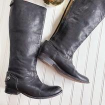 Frye Black Leather Knee High Riding Boots Womens Size 8 Photo
