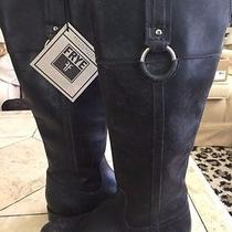 Frye  Black Stonewash Leather Tall Jamie Ring  Riding  Boots  Sz 5 1/2  5.5 Photo