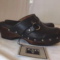 Frye Boots Black Leather Clara O Ring Clogs Sz 6m 148 New Photo