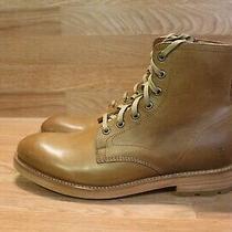 Frye Bowery Men's Caramel Lace Up Vintage Leather Boots Sz 8 D (C-861) Photo