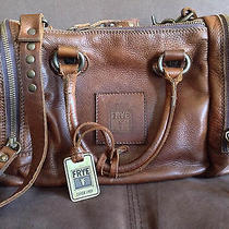 Frye Brooke Speedy Satchel Cognac Vintage Leather Photo