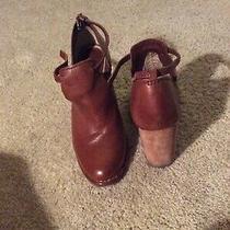 Frye Brown Heeled Booties Size 8 Medium Photo
