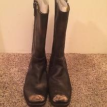 Frye Brown Leather Boots Photo