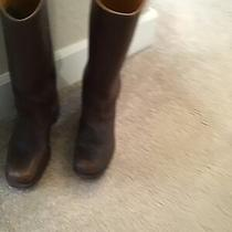Frye Brown Leather Boots Size 8 Medium Photo