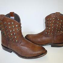 Frye Brown Leather 'Wyatt' Short Grunge Ankle Boots Womens Sz 5.5 B 325. Photo