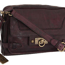 Frye 'Cameron' Leather Clutch Crossbody Bag Handbag - Plum Antique 328 Photo