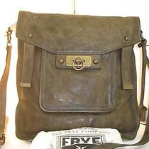 Frye Cameron Magazine Messenger Crossbody Taupe Leather Bag - 438 Photo