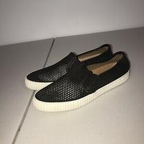 Frye Camille Perforated Slip on Sneakers Women Shoes Black Leather Size 8 Summer Photo