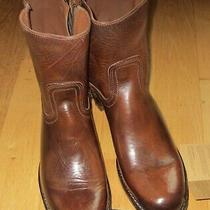 Frye Campus Boots Mens 12 D Inside Zip Shoes New Brown Usa Made Great Quality Photo