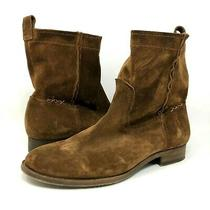 Frye Cara Short Boots Brown Leather Suede Pull on Womens Size 8.5 B 3178321-Wod Photo