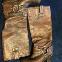 Frye Carmen Harness Boot Distressed Brown Size 8 Euc Photo