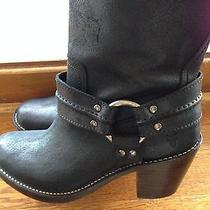 Frye Carmen Harness Short Boot Black Size 7 Like New With Box Photo