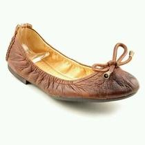 Frye Carson Collapsible Ballet Cognac Soft Vintage Leather Size 5.5 - Brand New Photo