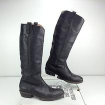 Frye Carson Lug Riding Boot Black Stone Antiqued 8.5 B Women's Distressed Photo