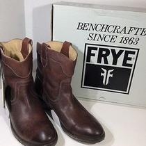 Frye Carson Lug Short  Sz 6.5 Boots Brown Antiqued Distressed Leather Z3-568 Photo