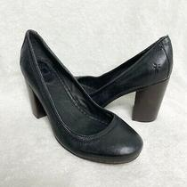 Frye Carson Pump Black Leather Heels Womens Size 8.5 Photo