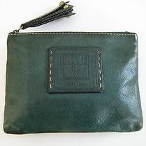 Frye  Chunky Dark Green Vintage Clutch  Made in Italy Unique and Rare Gorgeous Photo